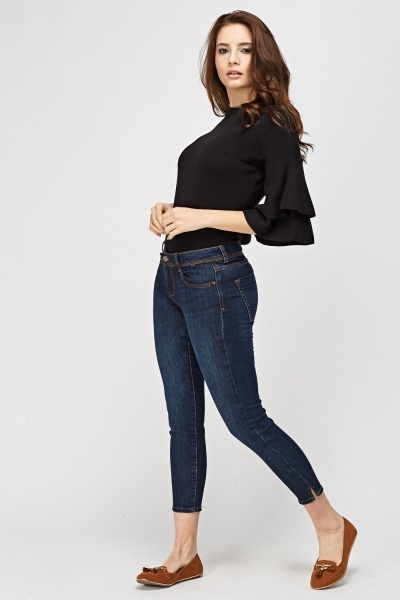 Skinny Leg Cropped Jeans