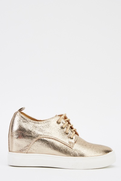 Metallic Wedge Shoes