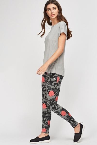 Mixed Print Leggings