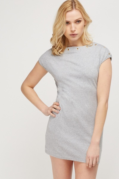 Detailed Trim Mini Dress
