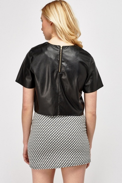 Faux Leather Box Top