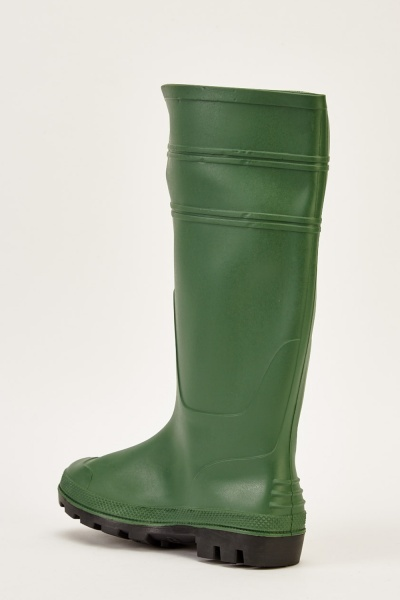 Mens Green Wellie Boots