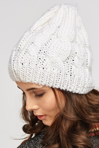 Cable Knit Basic Beanie Hat