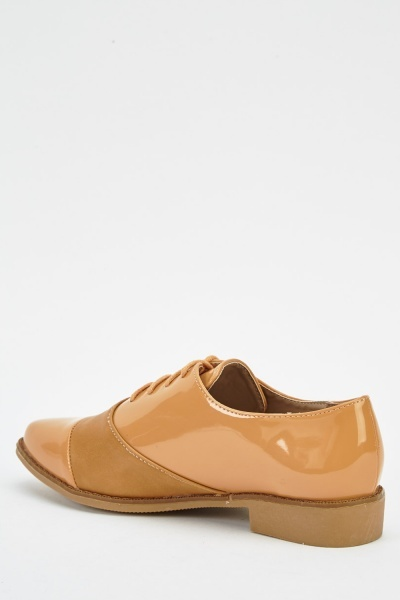 Contrast Camel Lace Up Shoes