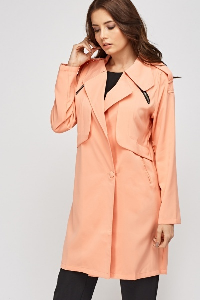 Salmon Long Duster Jacket