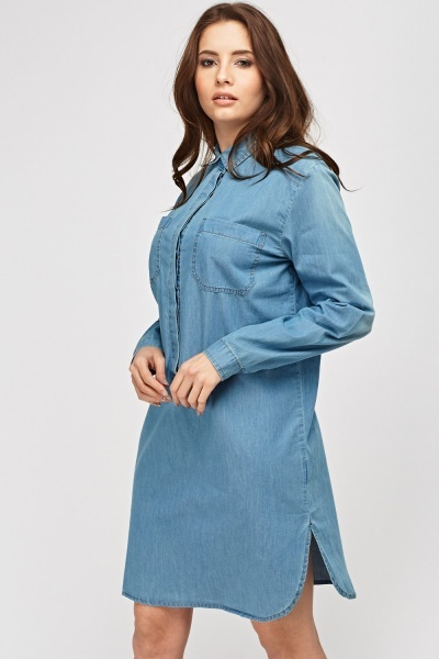 Denim Oversized Dress