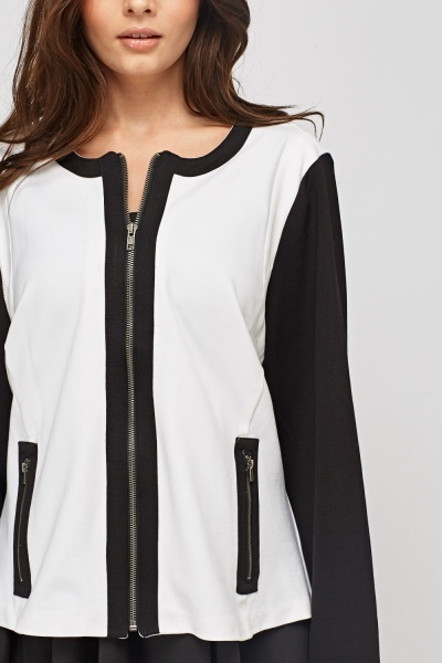 Mono Zipped Front Jacket
