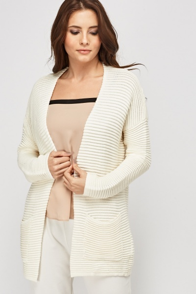 Ribbed Knitted Cardigan