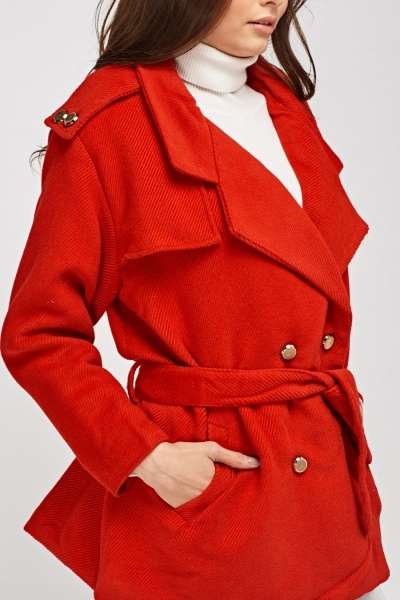 Ribbed Lapel Coat