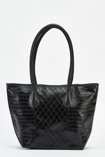 Textured Faux Leather Bag