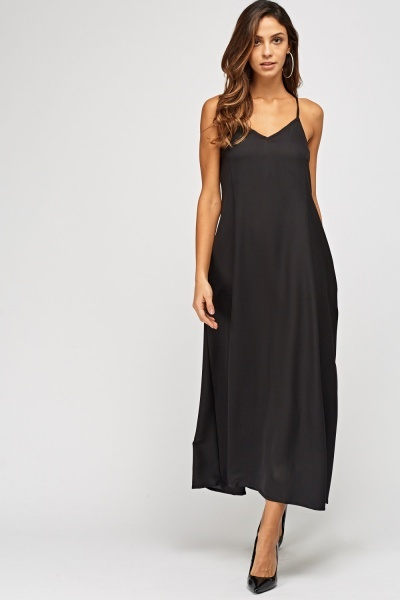 Strappy Sheer Midi Dress