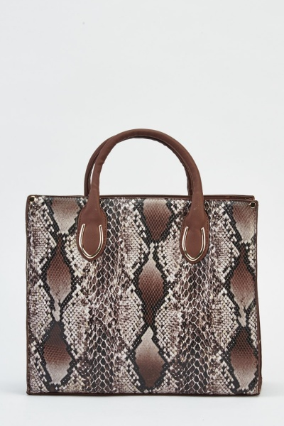 Mock Croc Faux Leather Bag