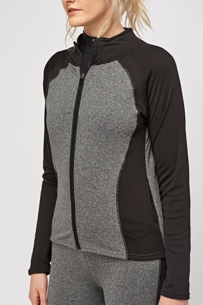 Sports Two Tone Zipped Jacket
