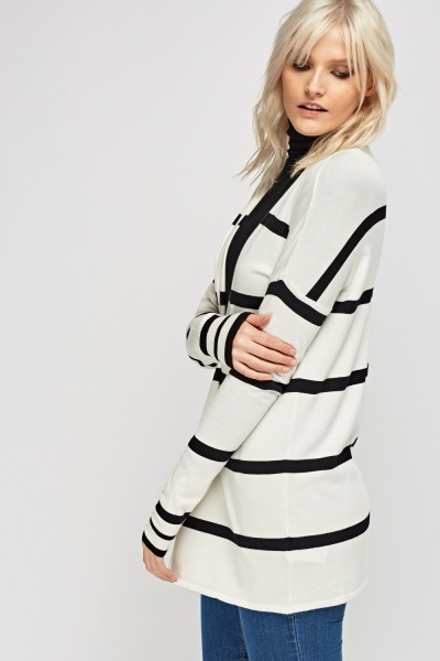 Striped Knitted Cardigan