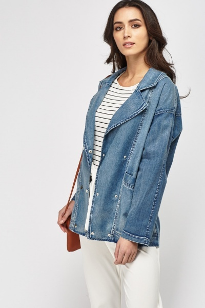 Double Breasted Denim Jacket