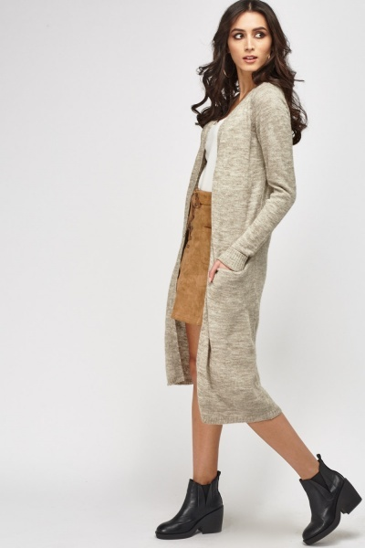 Thin Knit Long Line Cardigan