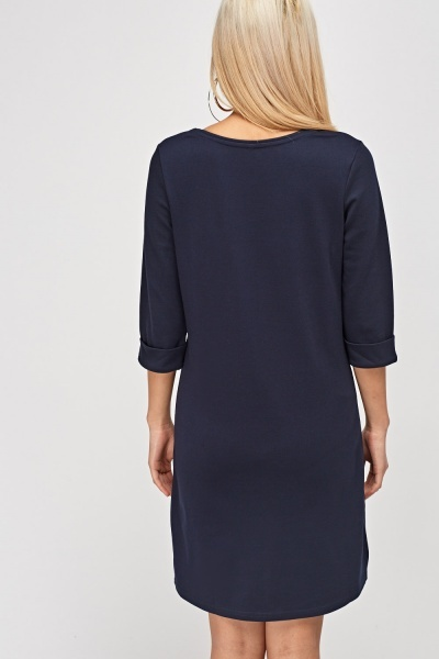 3/4 Sleeve Shift Dress