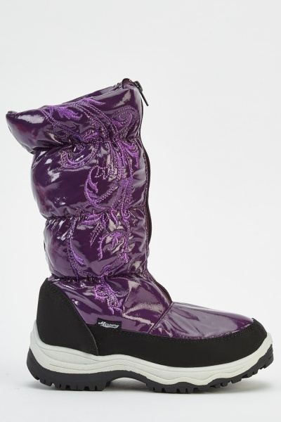Ruched PVC Boots