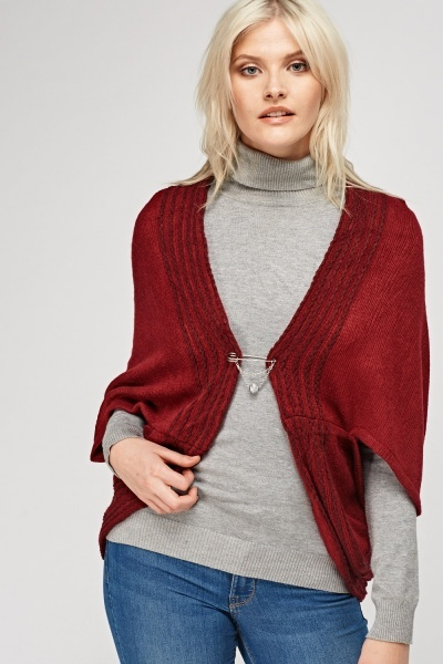 Batwing Sleeve Cropped Cardigan