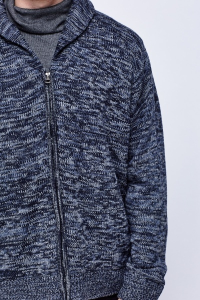 Speckled Zip Front Jumper
