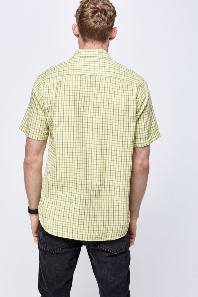 Light Lime Checked Shirt