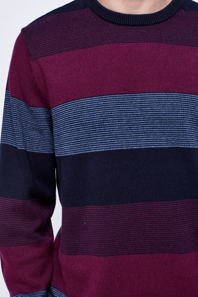 Striped Knitted Plum Sweater