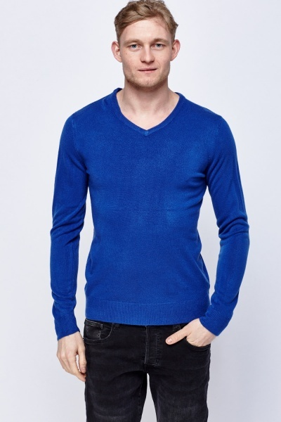 V-Neck Thin Knit Sweater