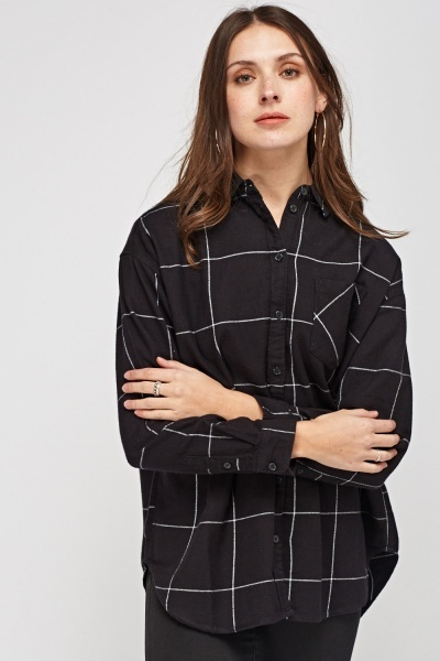 Checked Cotton Causal Shirt