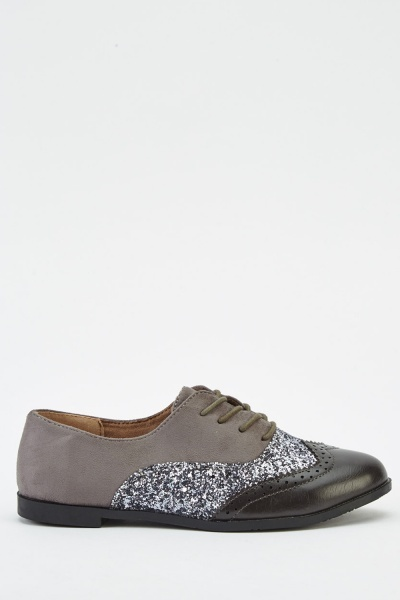 Insert Glitter Brogue Shoes