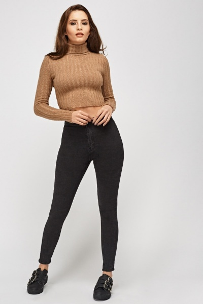 Chunky Knit Cropped Jumper