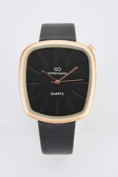 Classic Faux Leather Watch