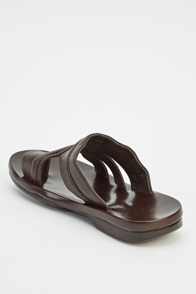Mens Faux Leather Sandals