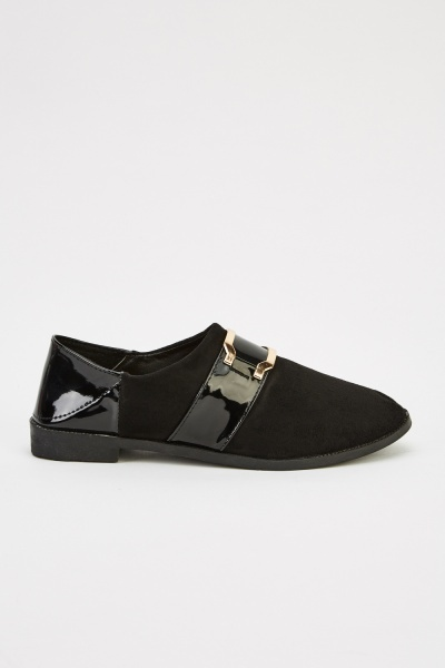Detailed Front Suedette Shoes