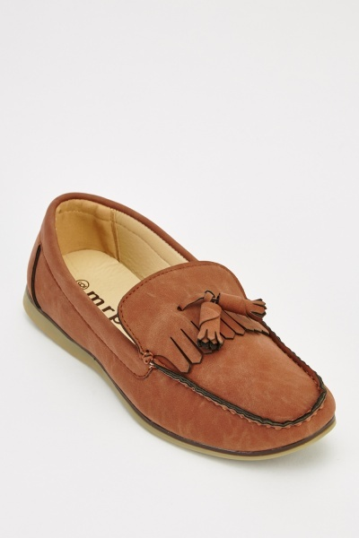 Faux Leather Mens Loafers