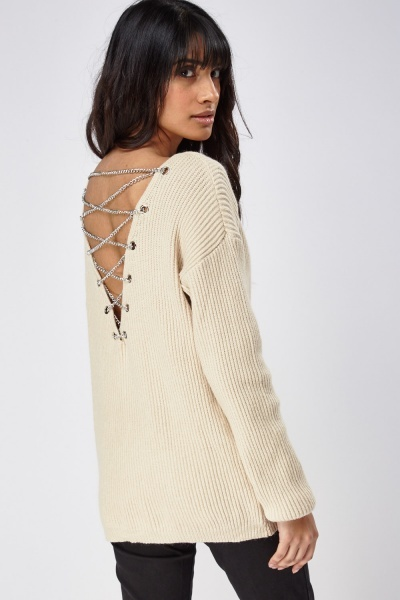 Chained Back Knitted Jumper