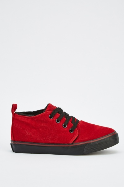 Lace Up Suedette Mens Shoes