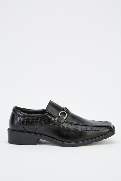 Square Toe Detailed Formal Shoes
