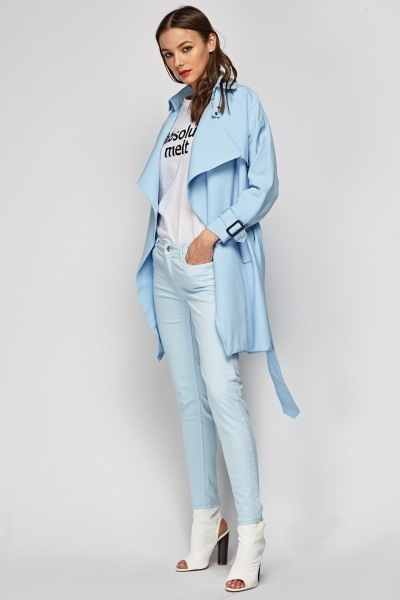 Sky Blue Tie Up Jacket