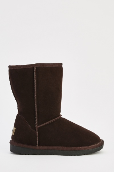 High Top Suedette Boots