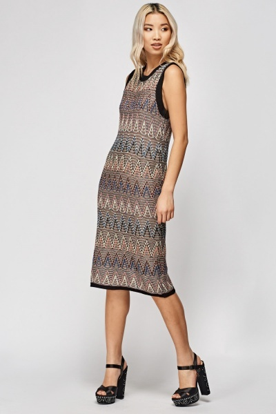 Sleeveless Knitted Dress