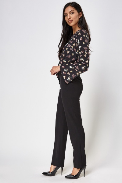 Straight Leg Formal Trousers