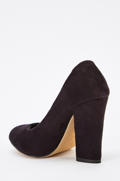 Suedette High Heels