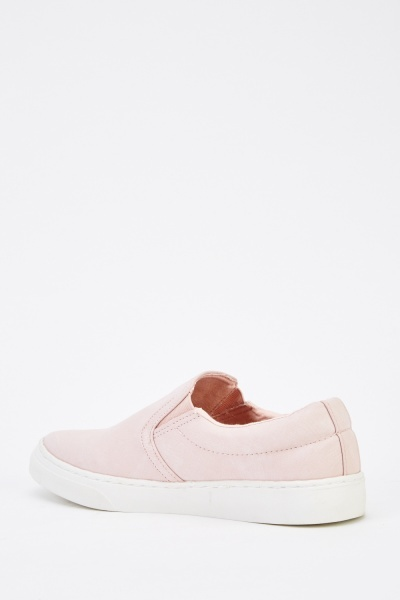 Classic Faux Leather Plimsolls