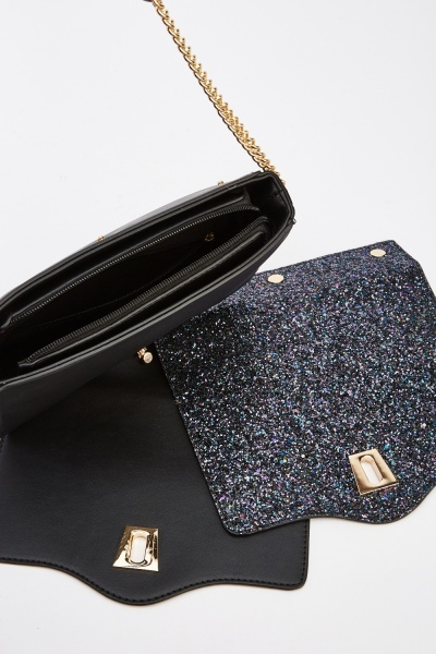 Reversible Glittered Shoulder Bag