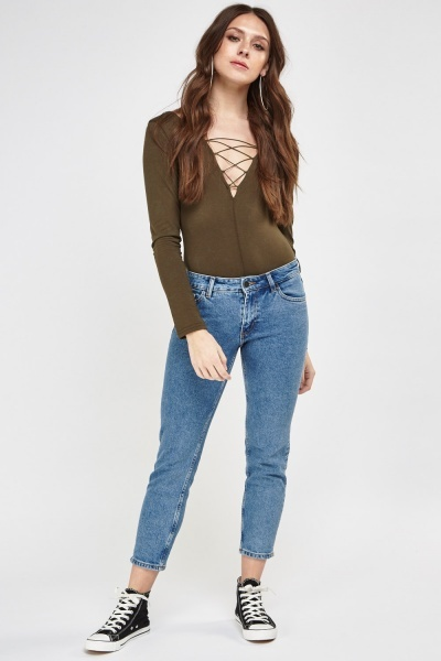 Ankle Crop Denim Jeans
