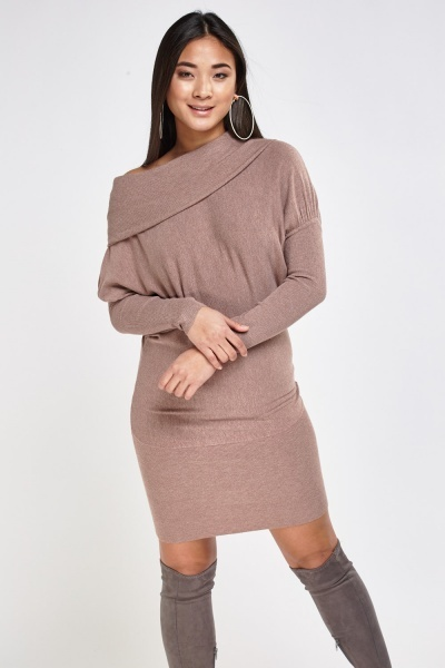 Batwing Sleeve Knitted Dress