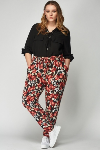 Floral Printed Light Weight Trousers