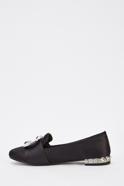 Sateen Diamante Loafers