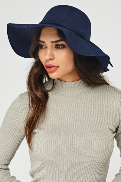 Floppy Plait Trim Felt Hat