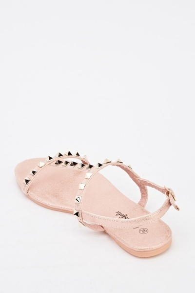 Metallic Studded Sandals